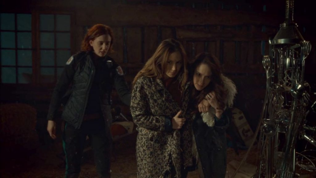Nicole, Waverly, Wynonna and a lightning rod.