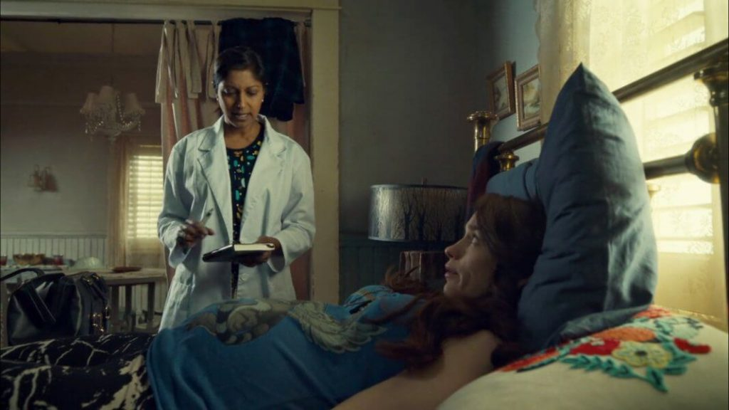 Doctor and patient in Wynonna Earp