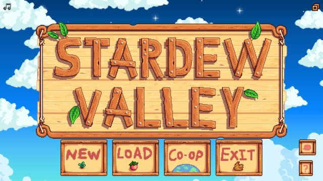 Stardew Valley start screen