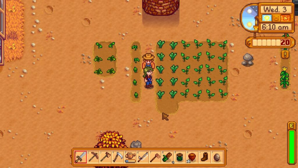 Stardew Vallely gameplay