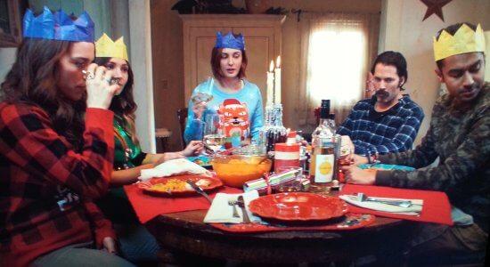 Christmas dinner at the Earp house.
