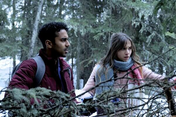Jeremy and Waverly in the woods